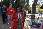 Thuli Madonsela arrives at the Lynnwood Ridge Primary School voting station, 3 August 2016, Lynnwood, Pretoria. Picture: Jacques Nelles