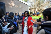 Thuli Madonsela addresses the media at the Lynnwood Ridge Primary School voting station, 3 August 2016, Lynnwood, Pretoria. Picture: Jacques Nelles
