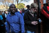Solly Msimanga entering Capital Park Primary School voting station, 3 August 2016, Pretoria. Picture: Jacques Nelles