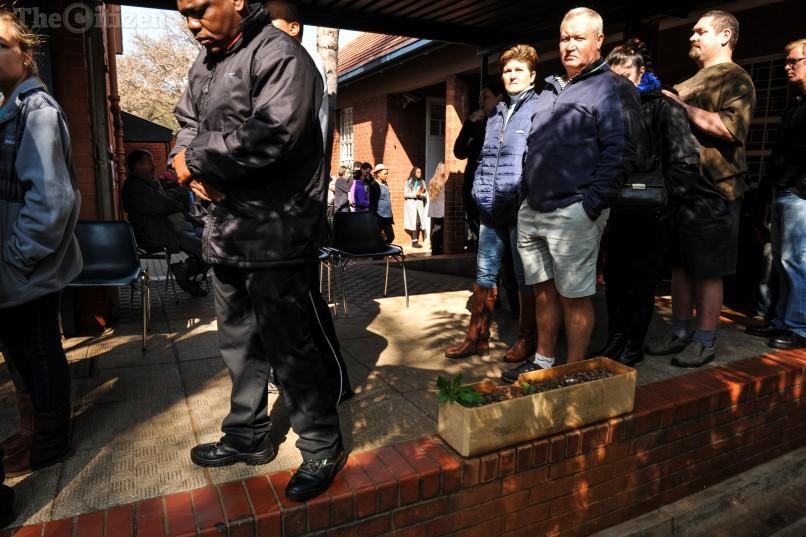 Voters at Capital Park Primary School voting station, 3 August 2016, Pretoria. Picture: Jacques Nelles