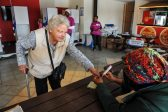 An elderly woman gets her finger inked at the Kaya Beach voting station, 3 August 2016, Grootfontein, Pretoria. Picture: Jacques Nelles