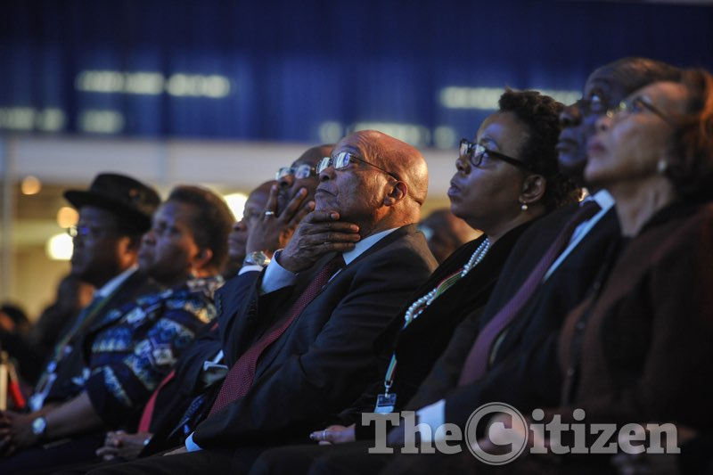Jacob Zuma at the IEC results centre on August 6 2016. Picture: Jacques Nelles