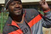 Botanical Hlongwane shows off his voter'so mark at the Edenvale Community Centre. Photo: Bedfordview Edenvale News