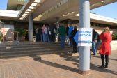 Residents queue at the Edenvale Community Centre to cast their votes. Photo: Bedfordview Edenvale News