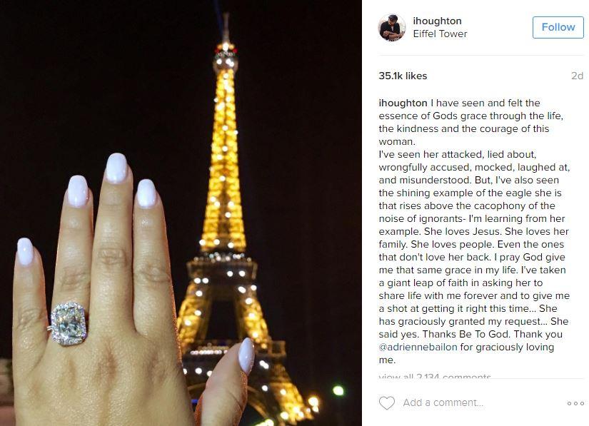 Israel Houghton's post on Instagram.