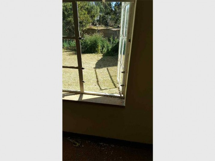 It is believed robbers gained entry into the Jacobs' house through this window and ransacked it.