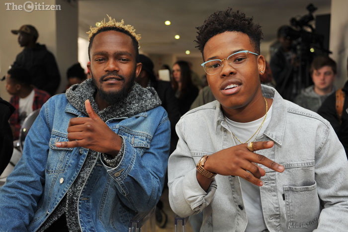 Nasty C (left) and Kwesta pose for a photograph, 23 August 2016, at an event at Emoyeni, Parktown, where it was announced that the MTV Africa Music Awards (MAMAs) will be hosted in Johannesburg on the 22 October. Picture: Michel Bega