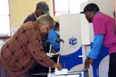 Seshego residents cast their votes in Polokwane, 3 August 2016, during the Local government elections. Picture: Nigel Sibanda