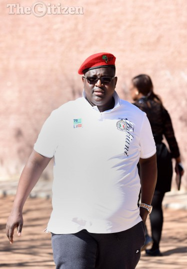 EFF provincial secretary Jossy Buthane after casting his votes at Mponegele Primary School in Polokwane, 3 August 2016, during the local government elections. Picture: Nigel Sibanda