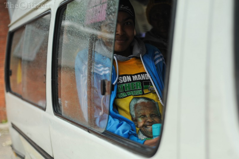 Passengers are ferried to a voting station, 3 August 2016, in Helenvale in Nelson Mandela bay, Port Elizabeth, during the local government elections. Picture: Alaister Russell