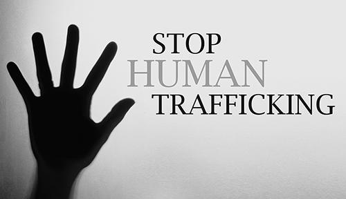 No to human trafficking.