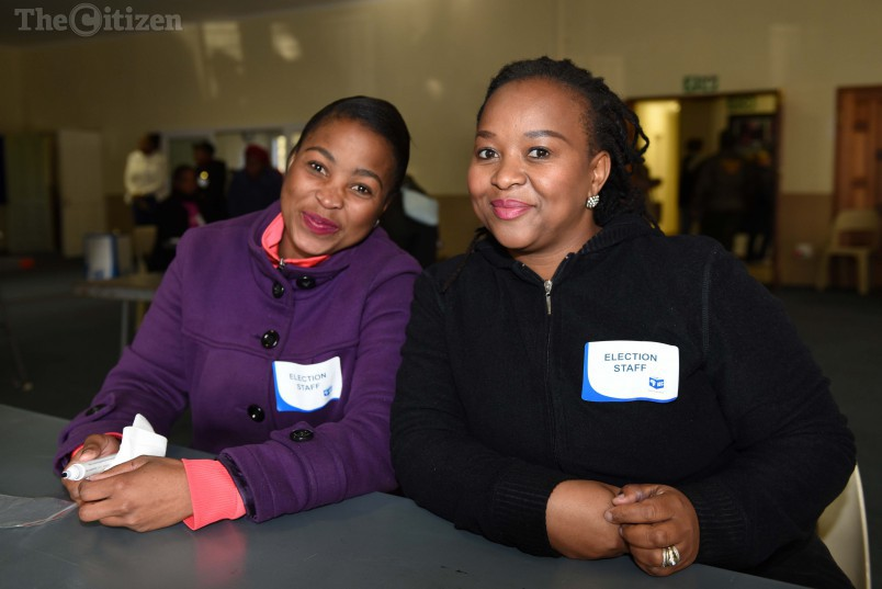 IEC staff at the Northfield Methodist Church voting station in Benoni, 3 August 2016.  Picture: Neil McCartney