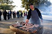 Sid Wallach for Northfield Methodist church cooks boerewors rolls at the Northfield Methodist Church voting station in Benoni, 3 August 2016.  Picture: Neil McCartney
