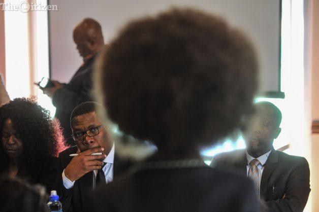 A School girl speaks to Gauteng MEC, Panyaza Lesufi, at the Pretoria Girls High School, 29 August 2016, Pretoria. Picture: Jacques Nelles