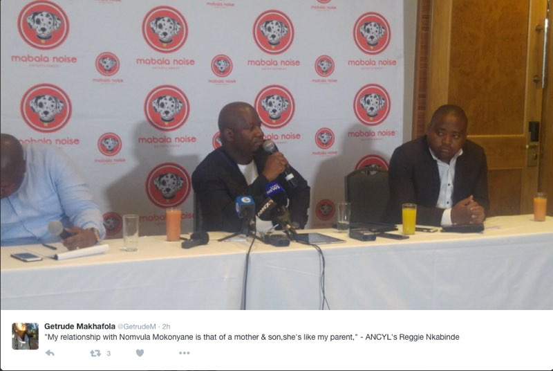 Reggie Nkabinde speaking at his press conference. Picture: Twitter