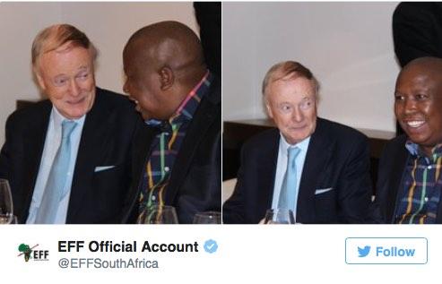 Lord Robin Renwick denies that he's Julius Malema's 'handler'