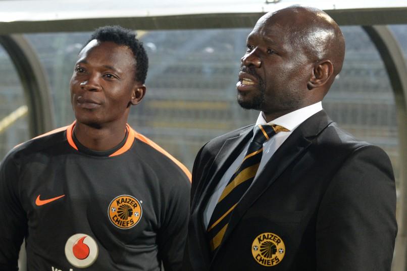 Steve Komphela (Head Coach) of Kaizer Chiefs and assitant coach John Paintsil. (Photo by Lefty Shivambu/Gallo Images)