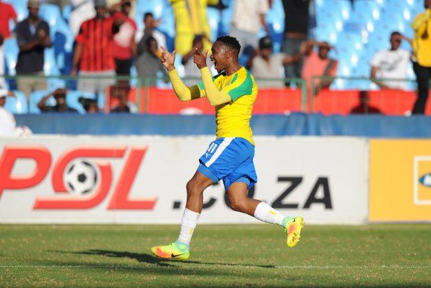 Sibusiso Vilakazi of Sundowns celebrating his goal (Photo by Gallo Images)