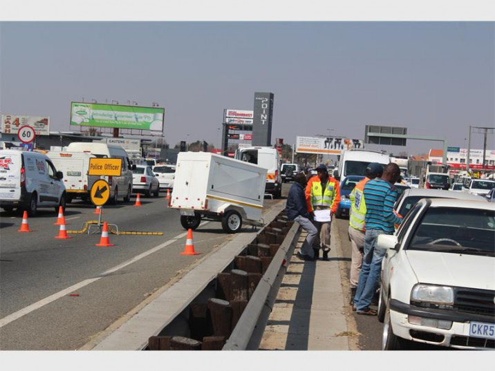 The EMPD mounted an operation on the R21 to catch traffic fines dodgers.