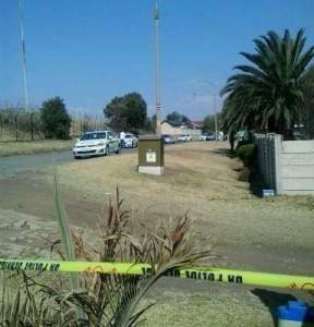 The crime scene in Esther Park