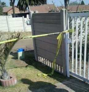 The crime scene in Esther Park..