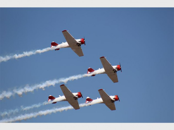 The world-renowned Flying Lions Formation Aerobatic Team.
