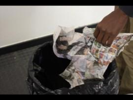 Trash things before throwing away.