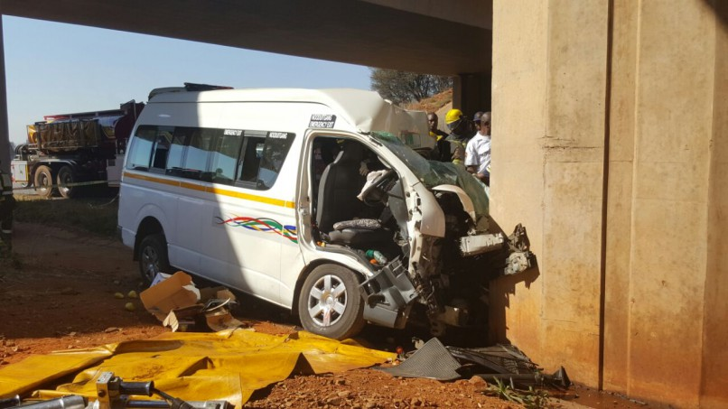 Four people were left in a critical condition following an accident. Picture: Centurion Rekord.