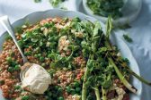 Recipe: Barley, coconut-milk risotto with peas and baby leeks