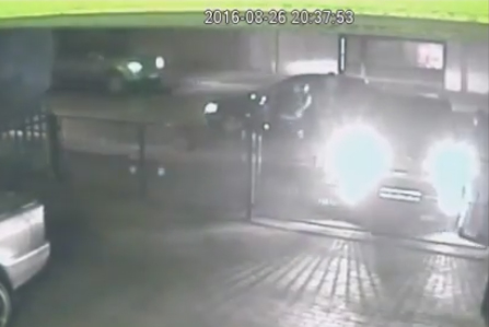 A screenshot from the CCTV footage of the hijacking. Picture: Kempton Express.