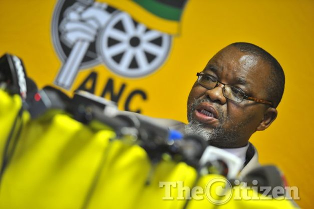 Secretary-general of the ANC Gwede Mantashe at their 2016 NEC meeting in Irene on August 14 2016. Picture: Michel Bega