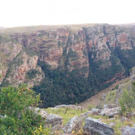 The gorge near Port St Johns where the chopper went down. Photo: SAPS Twitter