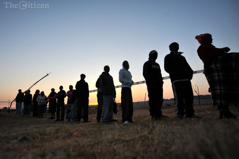 Residents of Zandspruit queue-up to cast their vote, 3 August 2016, in the local government elections. Picture: Michel Bega
