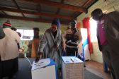 A resident of Zandspruit casts her vote, 3 August 2016, in the local government elections. Picture: Michel Bega
