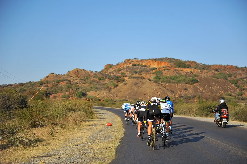 Cyclists compete in the Bestmed Cycle4Cansa Road Classic, hosted by Sun City, 21 August 2016, in the North West Province. Picture: Michel Bega