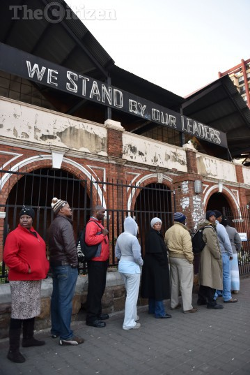 Voters queue to vote in the 2016 Local Government elections in the JHB CBD , 3 August 2016. Picture: Tracy Lee Stark