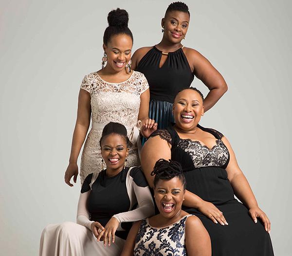 "Sindi Dlathu (Thandaza in Muvhango), Dawn Thandeka King (Mangcobo in Uzalo), Nobuhle Mimi Mahlasela (Aggie in 7de Laan), Noluthando ""Nolly"" Meje (Zukisa Isidingo) and Andisiwe Dweba (Getty Generations The Legacy)"