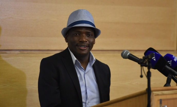 Hlaudi Motsoeneng speaks at a press conference at the SABC in Auckland Park on 27 September 2016. Picture: Neil McCartney