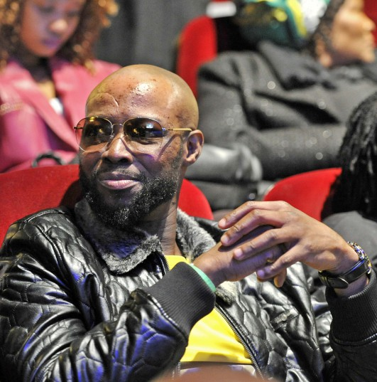 JOHANNESBURG, SOUTH AFRICA - JULY 13: Mandoza attends the African National Congress (ANC) Siyanqoba 'countdown to victory' rally at the Market Theatre on July 13, 2016 in Johannesburg, South Africa. Speaking during the rally, President Zuma took a swipe at opposition parties, saying they have neither experience nor plan to govern the country. (Phot by Gallo Images / City Press / Tebogo Letsie)