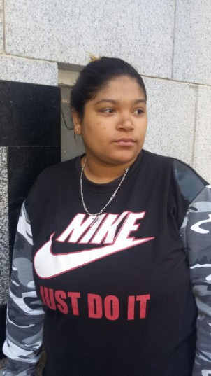 Jodie Adriaanse, outside the Western Cape High Court. PIC Catherine Rice/ANA