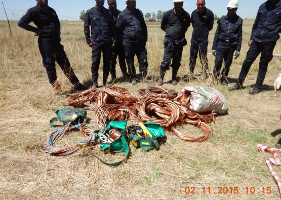 Recovered copper cable from zama zamas.