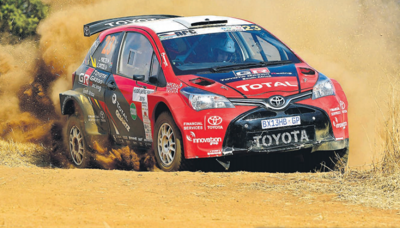 TITLE SHOT. Leeroy Poulter and Elvene Coetzee (Gazoo Toyota Yaris S2000) will hope to clinch this year's national rally title on the weekend's Cape Toyota Dealer Rally. Picture: Dave Ledbitter