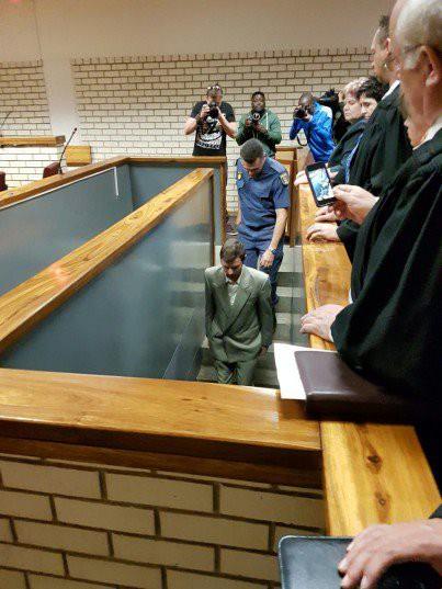 Alleged Anika Smit murder suspect Andre van Wyk in court. Photo: Maroela Media.