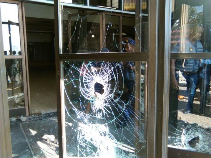 Wits University Great Hall doors vandalised.