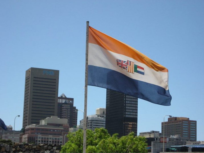 Old SA flag. Picture: Wikimedia commons.