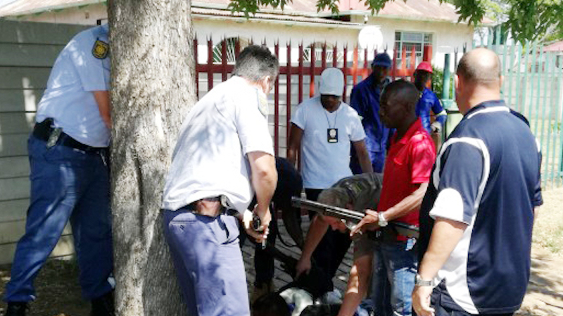 The suspect was arrested for being in possession of illegal substances. Picture: Heidelberg/Nigel Heraut.