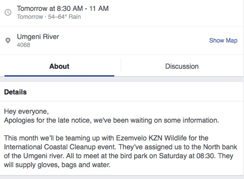 KZN Beach CleanUp is joining the International Coastal Clean-Up Day. Picture: Screenshot from Facebook.