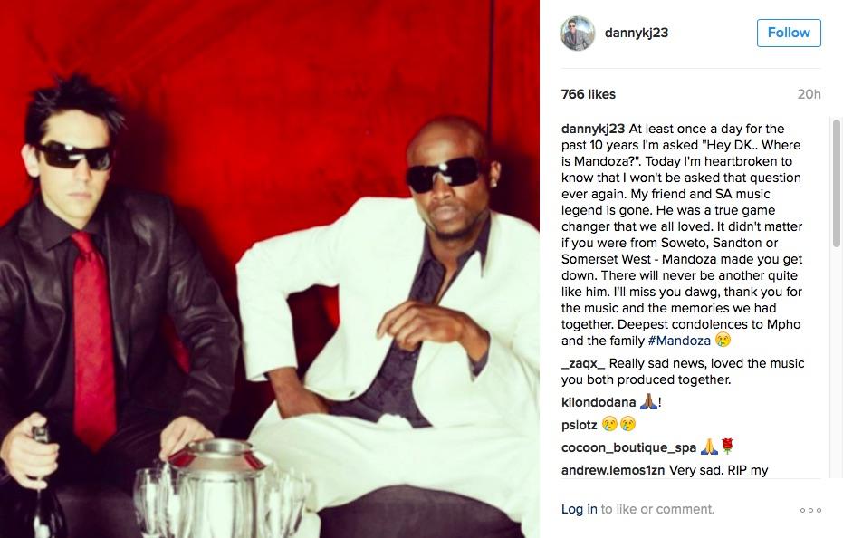 Danny K's post on Instagram.