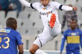 CAPE TOWN, SOUTH AFRICA - SEPTEMBER 17: Daine Klate of Wits during the MTN 8 Semi Final, 2nd Leg match between Cape Town City FC and Bidvest Wits at Cape Town Stadium on September 17, 2016 in Cape Town, South Africa. (Photo by Carl Fourie/Gallo Images)
