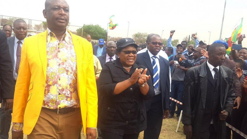Zmbabwe People First leader Joice Mujuru addressing Zimbaweans in S.A Pretoria